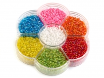 "Glass Seed Beads ""Rocaille"" in plastic wheel"