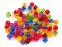 Plastic Round Beads Ø6 mm Transparent