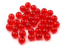 Plastic Round Beads Ø8 mm Transparent