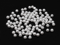 Round Glass Pearl Imitation Beads Ø4 mm smooth