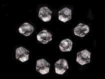 Plastic Faceted Beads 4x4 mm Sun