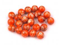 Round Marbled Plastic Beads Ø10 mm