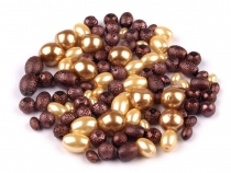 Round Glass Pearl Imitation Beads mix of sizes and shapes