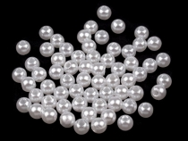 Plastic Imitation Pearl Beads Glance Ø5 mm