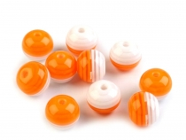 Plastic Beads Ø10 mm with Stripes