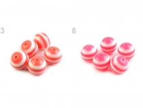 Plastic Beads Ø16 mm with stripes
