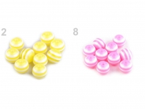 Plastic Beads Ø12 mm with stripes