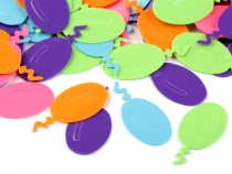 Balloon Shaped Confetti 12x26 mm
