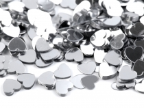 Silver Heart Confetti Ø6 mm