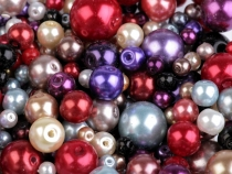 Imitation Pearl Beads mix of sizes and colours Ø4-12 mm