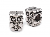 Metal Charm Bead 8x10 mm Owl