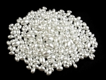 Round Glass Pearl Imitation Beads 4-12 mm Oval