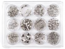 Jewelry Making Kit - Silver Plated Findings Mix of 12