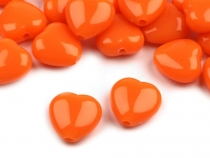 Plastic Beads Color Heart 13x13 mm