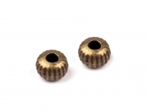 Round Fluted Metal Beads Ø3 mm
