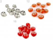 Glass Charm Beads 9x14 mm transparent