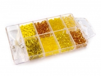 "Glass Seed Beads ""Rocaille"" in plastic storage box"