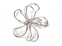 Metal Bloom Flower with Rhinestone