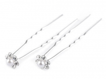 Rhinestone Flower Hair Pin Ø11 mm