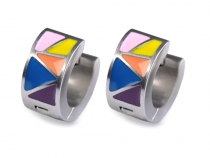 Stainless Steel Enamel Earrings