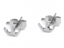 Stainless Steel Stud Earrings Anchor, Heart