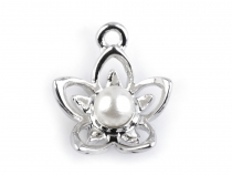 Charm 14x17 mm Bloom with Bead