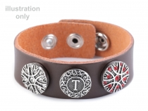 Interchangeable Snap Leather Cuff Bracelet