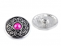 Interchangeable Snap Charm Ø20 mm with Bead