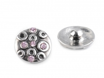 Interchangeable Snap Charm Ø13 mm with Rhinestones