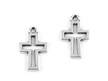 Charm Pendant 11x17 mm Cross