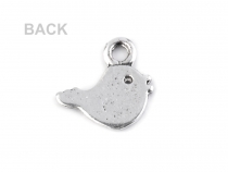 Charm Pendant 11x11 mm Bird