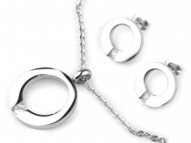 Stainless Steel Necklace and Earrings