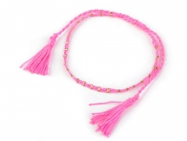 Ankle Bracelet Shamballa with Tassels