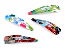 Printed Snap Hair Clips 5.6 cm