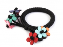 Hair Elastic with Flowers
