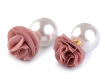 Double Sided Earrings Ball / Rose