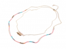 Double Row Necklace with Beads