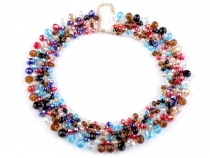 Bib Necklace with Glass Beads