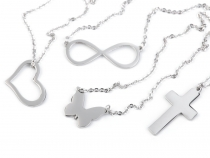 Stainless Steel Necklaces - Heart, Cross, Butterfly