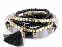 Bead Bracelet Set with Tassel