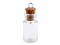 Small Glass Bottles / Mini Glass Jars with Cork 13x25 mm