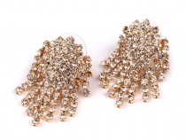 Rhinestone Earrings 20x30 mm