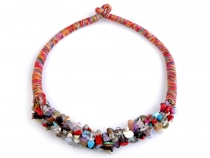 Bib Necklace with Gems