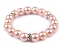 Elastic Bracelet of Faux Pearls