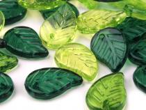 Plastic Transparent Leaf Beads charms 9x14 mm mix
