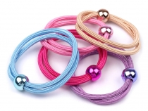 Double Hair Elastics with Bead Ø11 mm