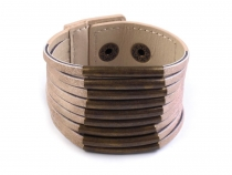 Multi-layer Eco Leather Wrap Cuff Bracelet