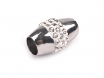 Jewellery Magnetic Fastening Ø5 mm with Rhinestones