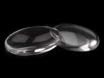 Clear Glass Cabochon 18x25 mm