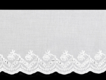 Broderie Anglaise Cotton Eyelet Lace Trim width 11 cm